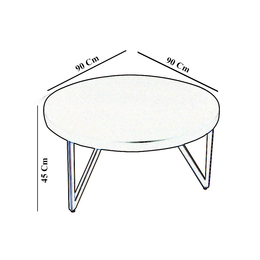 Matheo Round Black Coffee Table with Gold Legs 4