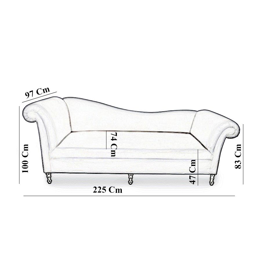 Ethan Upholstered Curved 2 Seater Sofa 8