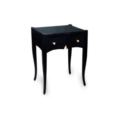 Arthur Wooden Black Side Table with Drawer