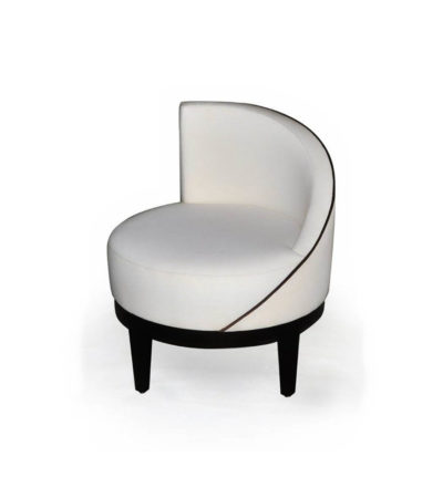 Francesco Round Upholstered Occasional Chair with Curved Back Top View
