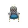 French Painted Wing Back Armchair 1