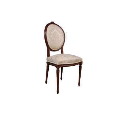 French Style Dining Chair with Luxury Fabric