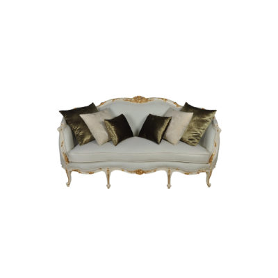 French Style Sofa Cream