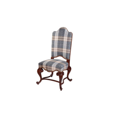 English Dining Chair with Upholstery Luxury Fabric