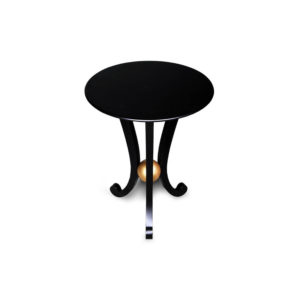 Moritz Circular Black 3 Legged Side Table
