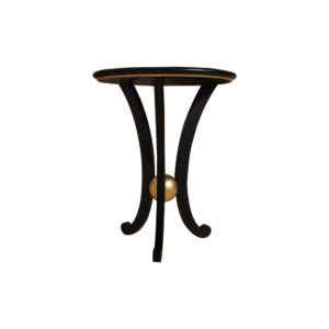 Moritz Circular Black 3 Legged Side Table Round Top
