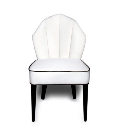 Noa Upholestered Scoop Back Dining Chair
