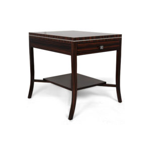 Silvio 1 Drawer Bedside Table with Shelf Veneer