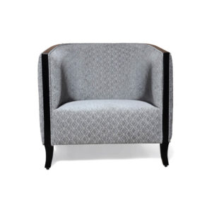 Theo Gray Upholstered with Wooden Frame Armchair