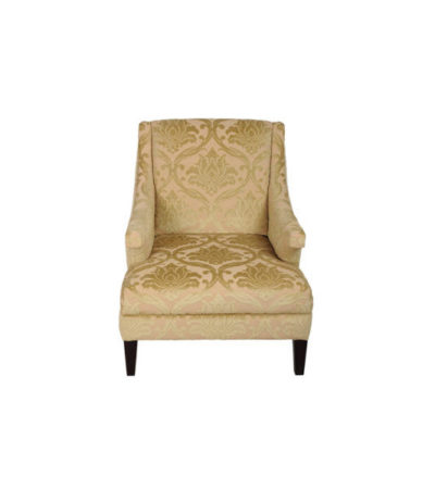 Windsor Upholstered Patterned Arm Chair