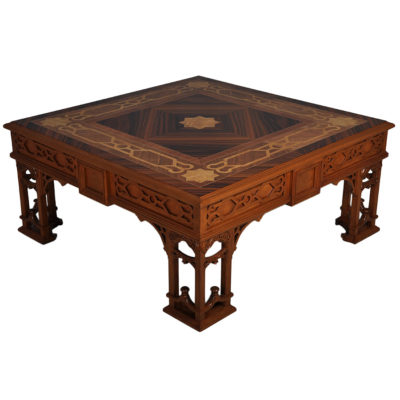 Top Elegant Coffee Table Marquetry Veneer Inlay