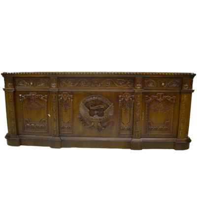 Resolute Desk with Hand Carved Detailed