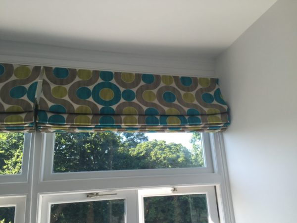 custom lined and interlined roman blind