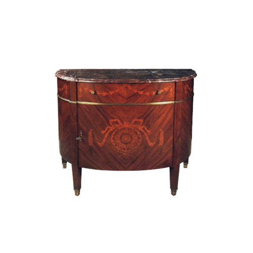 French Marquetry Half Moon Chest