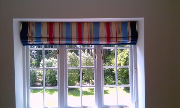 Lined and Interlined Decorative Roman Blind