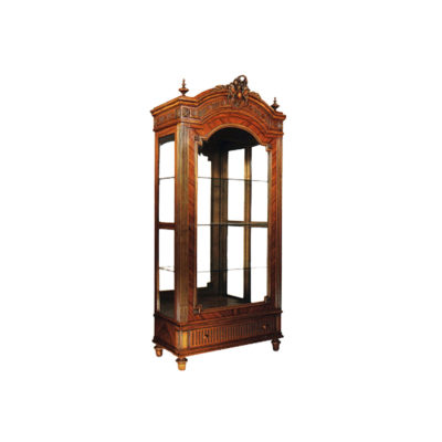 Eilis Antique Wooden Display Cabinet with glass door