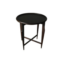 Cruz Wooden Black Round Side Table Top