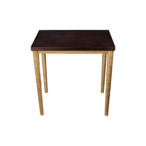 Amoir Small Brown Side Table With Golden Legs