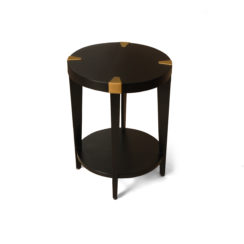 Alany dark brown side table
