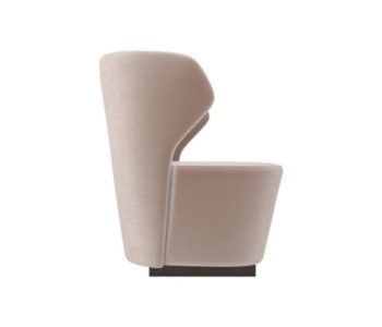 Anna Upholstered Wingback Accent Chair Right Side View