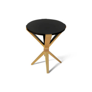 BonBon Round Dark Brown and Gold Cross Leg Side Table