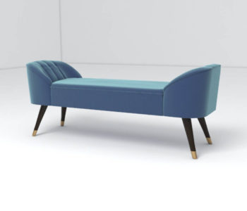 Celia Upholstered Bench with Arms Beside