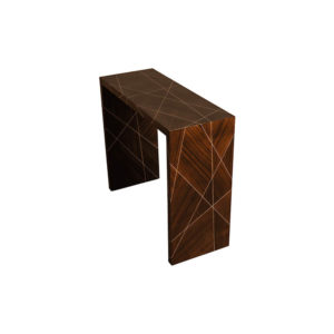 Duarte Dark Brown Console Table Beside View