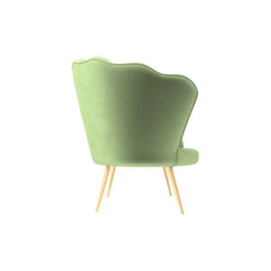 Flower Upholstered Accent Armchair Right Side View