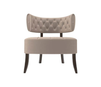 Kathy Upholstered Winged Tufted Accent Chair