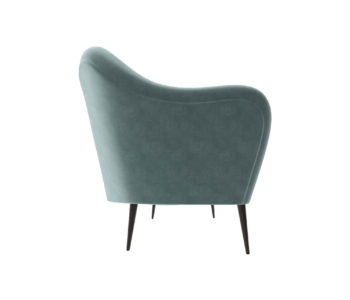 Nisha Upholstered Striped Low Back 2 Seater Sofa Right