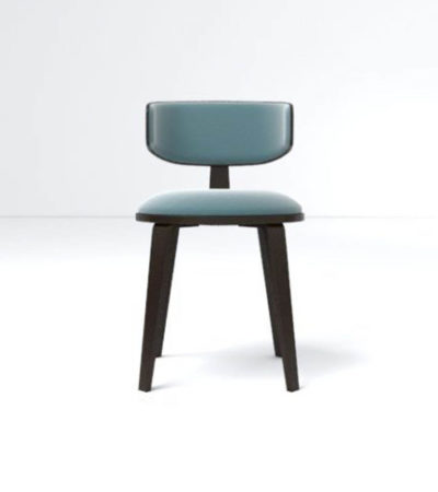Oska Upholstered Winged Dining Chair