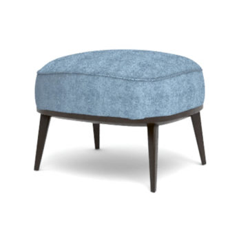Roman Upholstered Square Pouf with Legs Beside