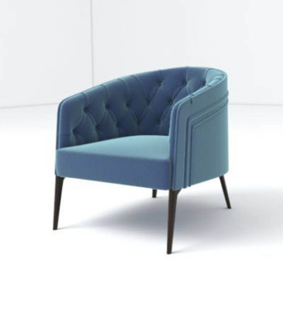 Saga Upholstered Tup Tufted Armchair Left