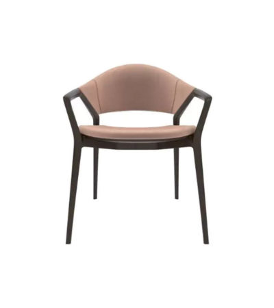 Tonia Upholstered Curved Arm Dining Chair