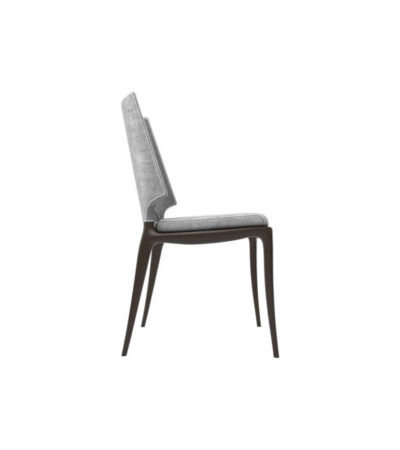 Zeus Upholstered High Back Dining Room Chair Right Side