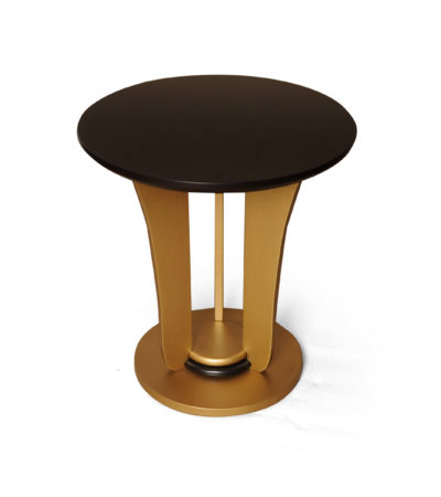Fido Dark Brown And Gold Side Table