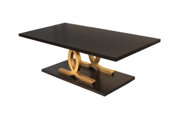 Azaro Black and Gold Coffee Table Beside View