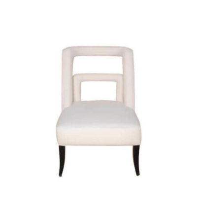 Mario Upholstered Square Armless Accent Chair