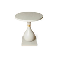 Cinnabar Grey Round Side Table Front View