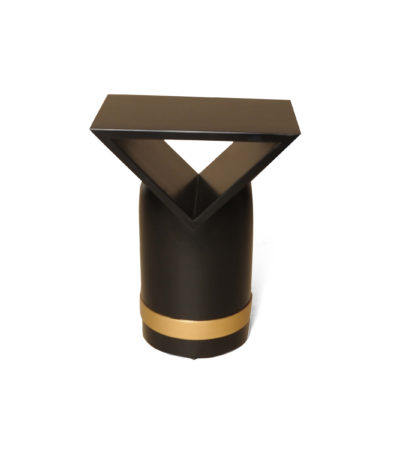 V Borma Black Cylinder Side Table