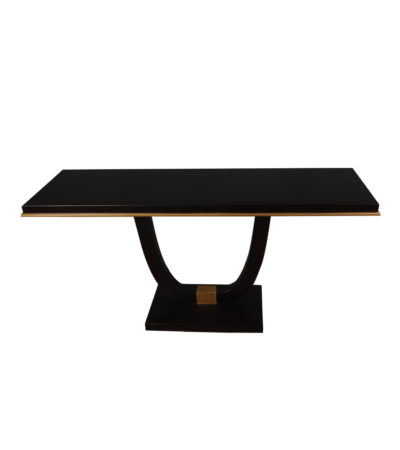 August black curved leg console table