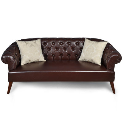 classic-leather-sofa-silk-cushion-UK