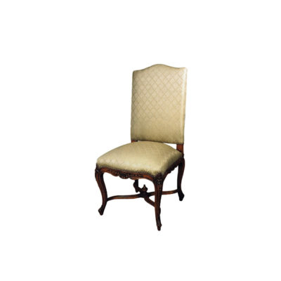 Classical Dining Chair with Luxury Upholstered and Hand Carved Beach Wood