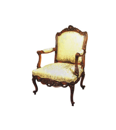 french antique reproduction arm chair