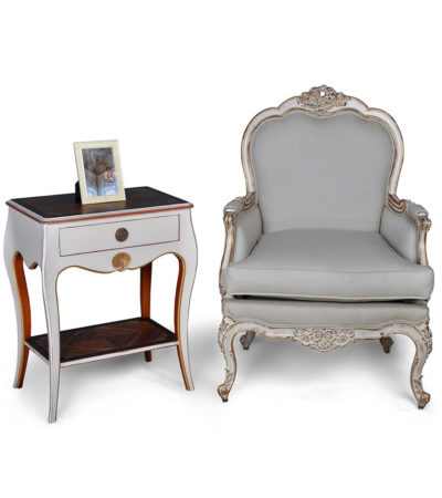 french-painted-armchair-table