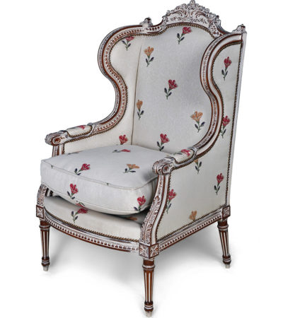 french style wing back chair
