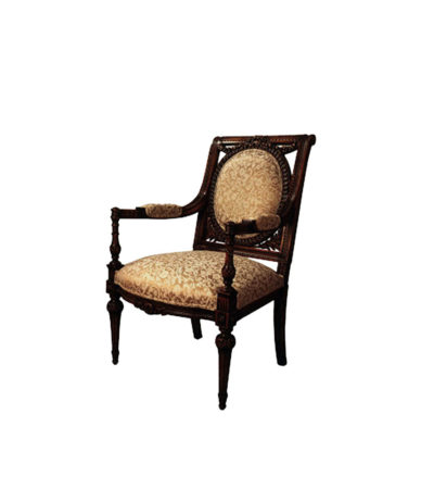 Gaunt Antique French Armchair Hand Carved Detailed
