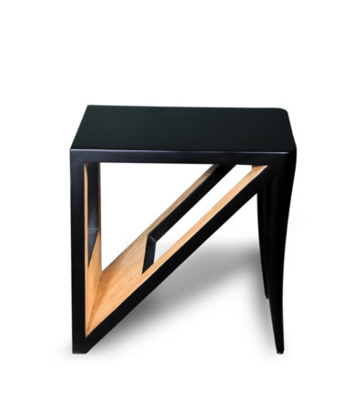 Jayden Black Lacquer Side Table