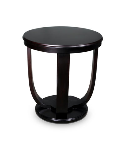 Mathieu wooden round side table