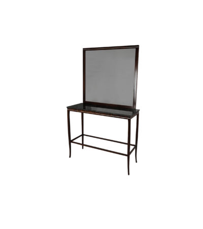Silvio Wooden With Marble Top And Mirror Console Table